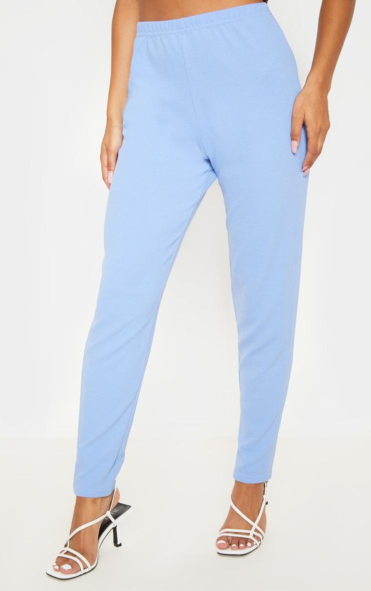 Cornflower Blue Straight Leg Trouser  2