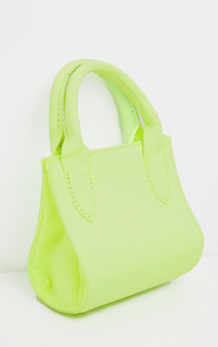 Mini-sac en nylon vert citron fluo à anse 3