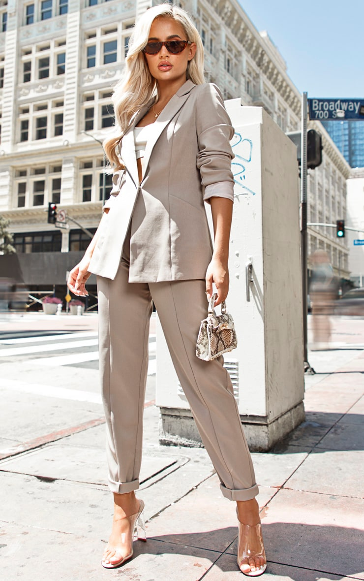 Pebble Oversized Pocket Front Blazer