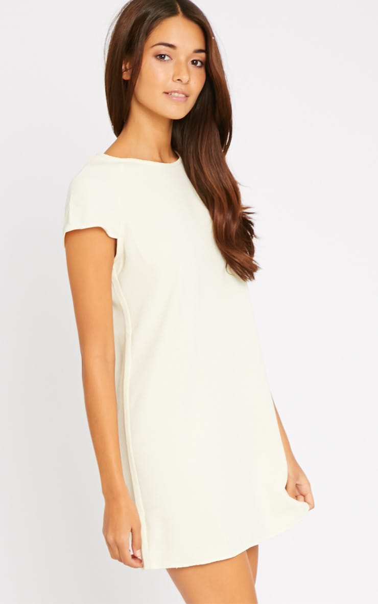 Sabra Cream Waffle Loose Fit Shift Dress 1