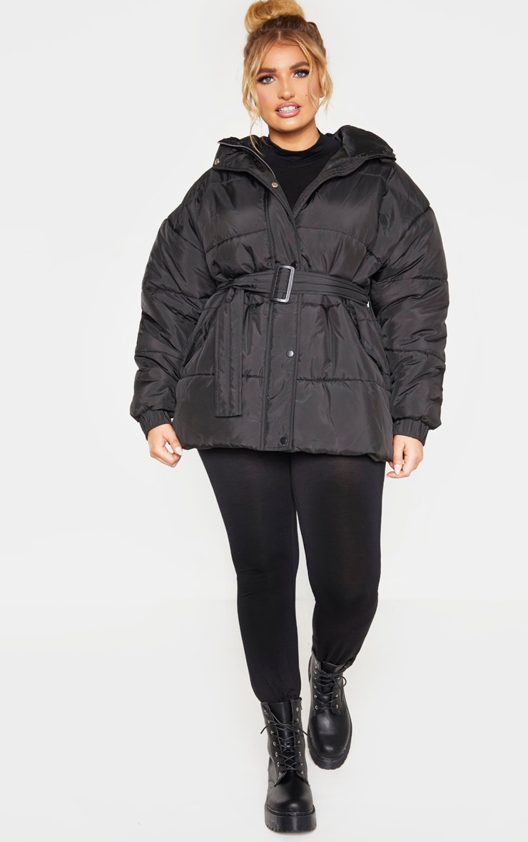 Plus Black Belted Puffer 5