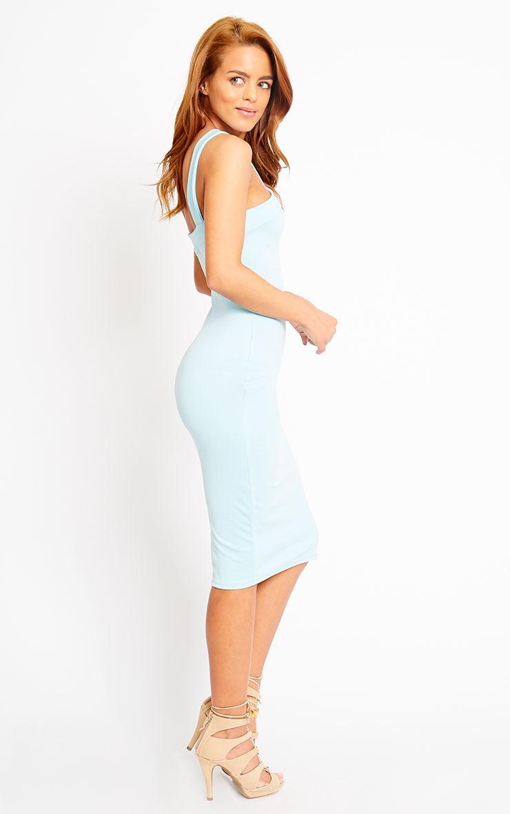 Melanie Powder Blue Cross Front Midi Dress 4