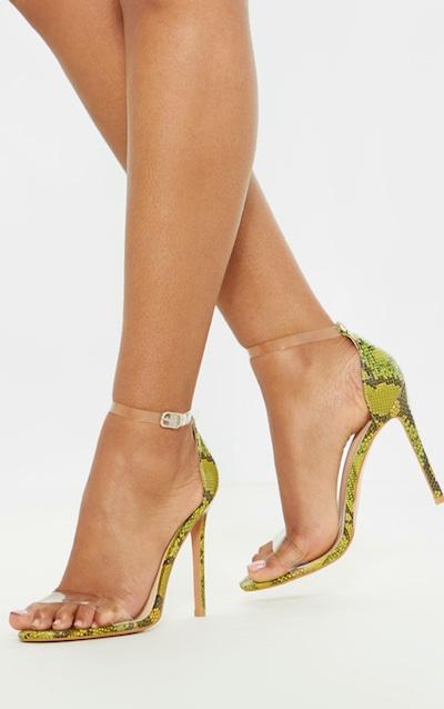 4f025383100a ... Heel Sandal.  50.00. Lime Snake Clover