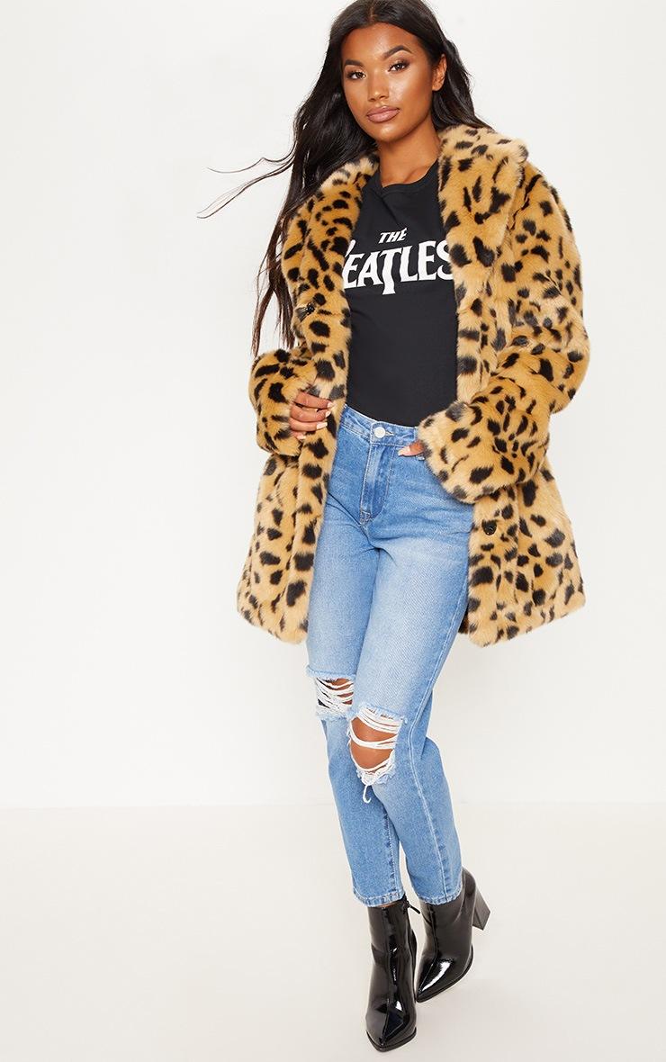 Leopard Faux Fur Coat  4