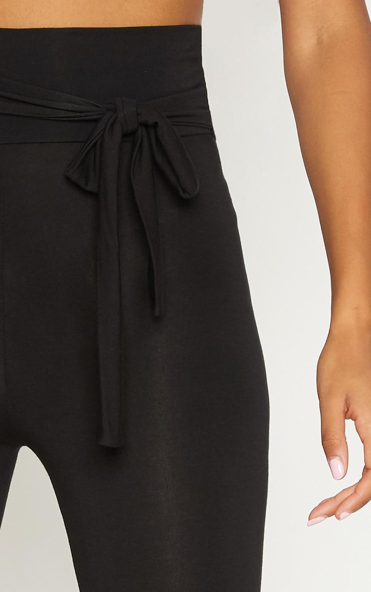 Black Tie Waist Detail Legging 5