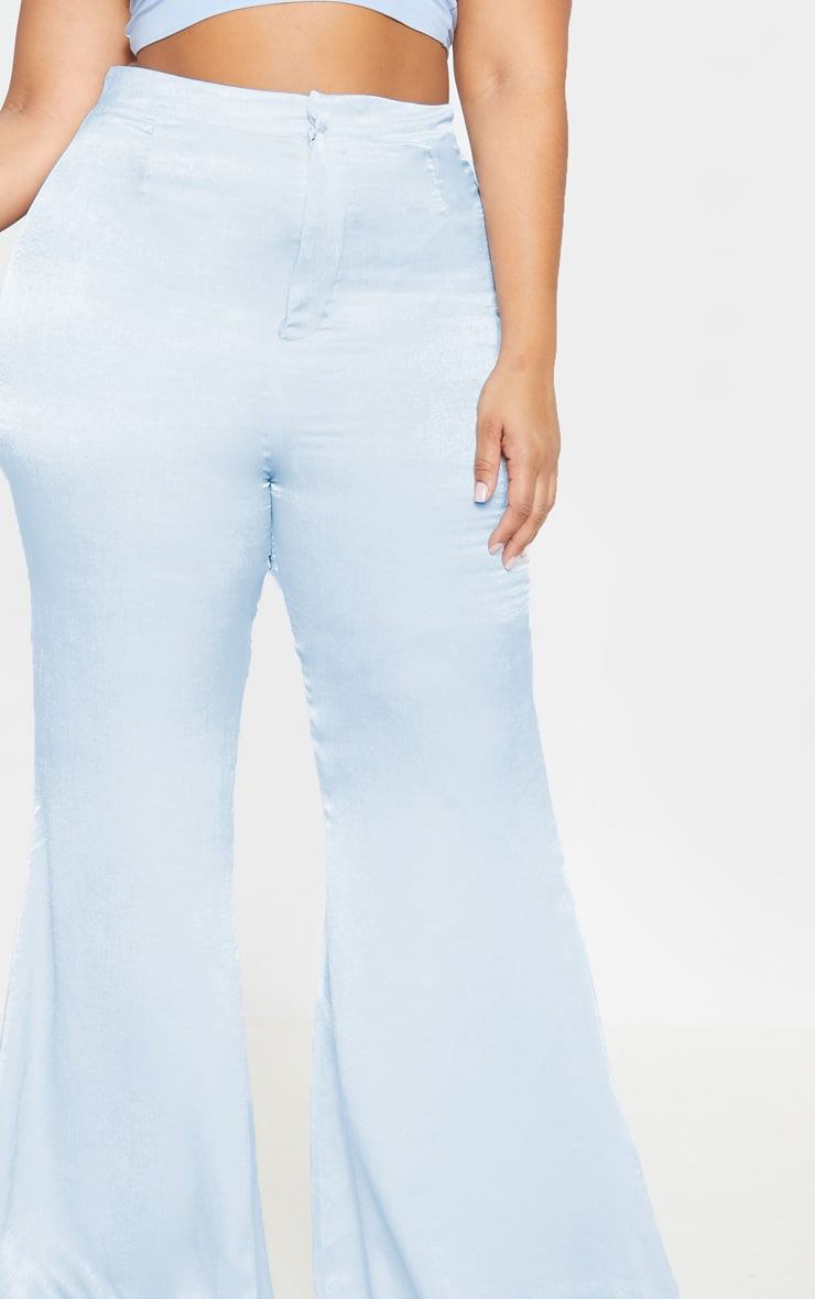 Plus Dusty Blue Tailored Extreme Flared Pants 5