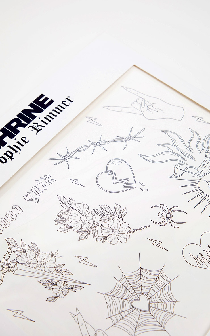 Shrine x Sophie Rimmer Hearts Temporary Tattoos 2