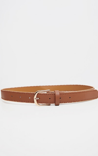 Tan Pu Gold Studded Edge Jeans Belt