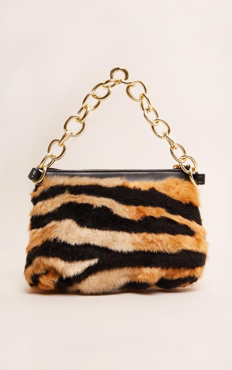 Tiger Faux Fur Handbag 2