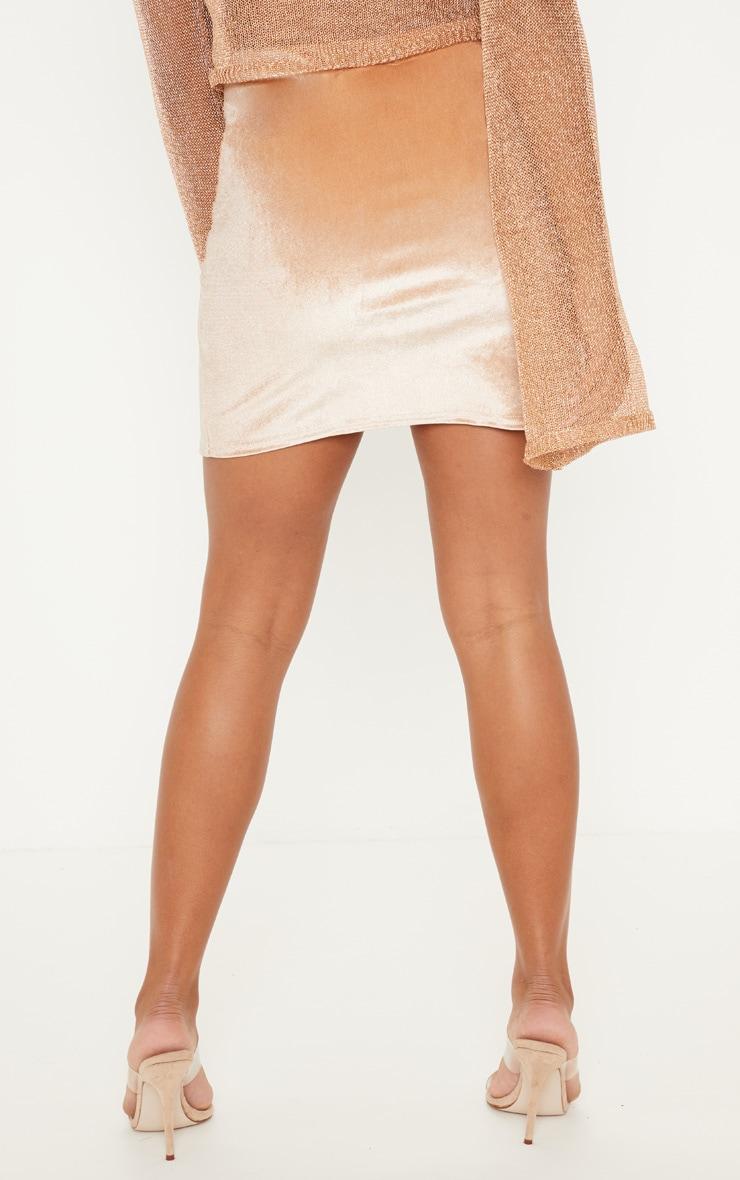 Stone Velvet Split Hem Mini Skirt 4