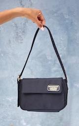 PRETTYLITTLETHING Branded Archive Black Shoulder Bag 2