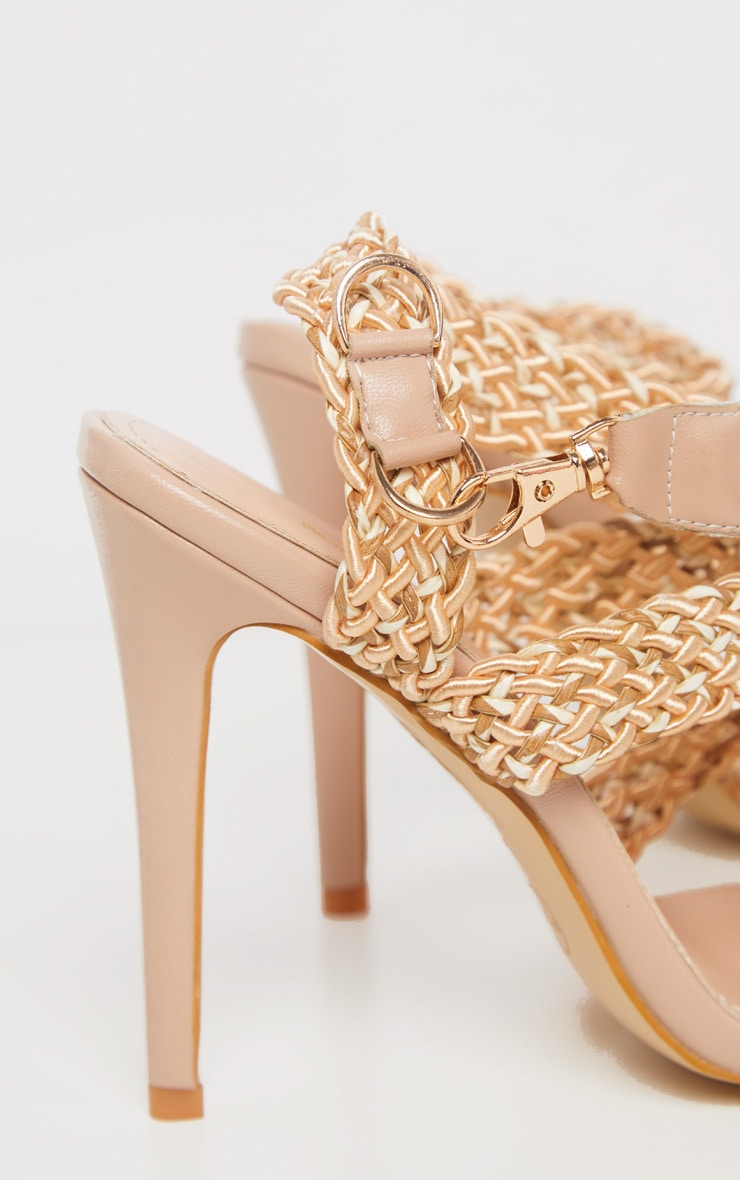 Natural Buckle Clasp Rope Strap Sandal 3