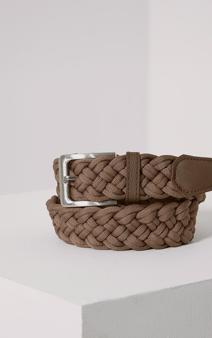 Hanne Mocha Plaited Woven Belt 2
