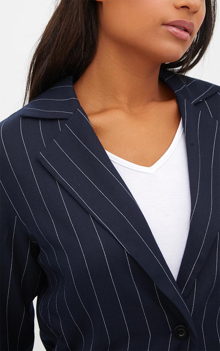Navy Pinstripe Boyfriend Blazer 5