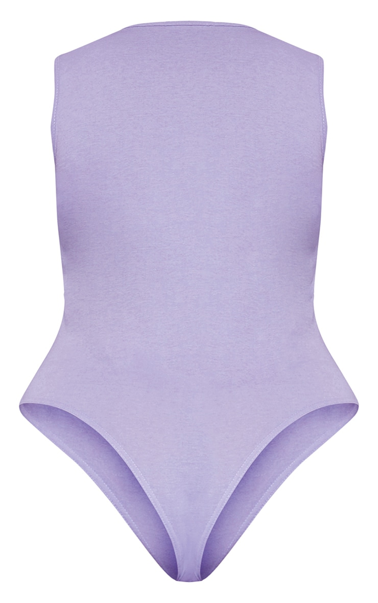 RECYCLED Plus Violet Square Neck Sleeveless Bodysuit 4