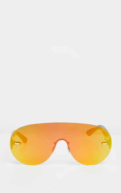 Multi Revo Frameless Rounded Oversized Sunglasses