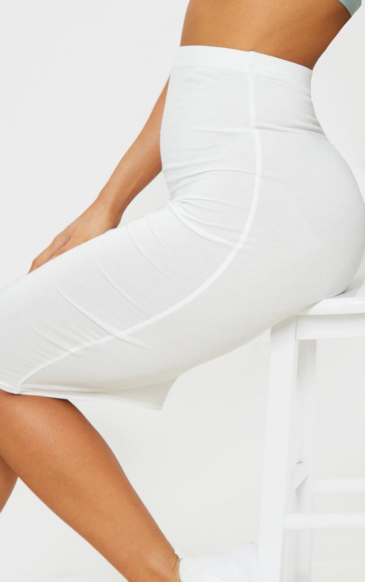 Cream Basic Midi Skirt 4