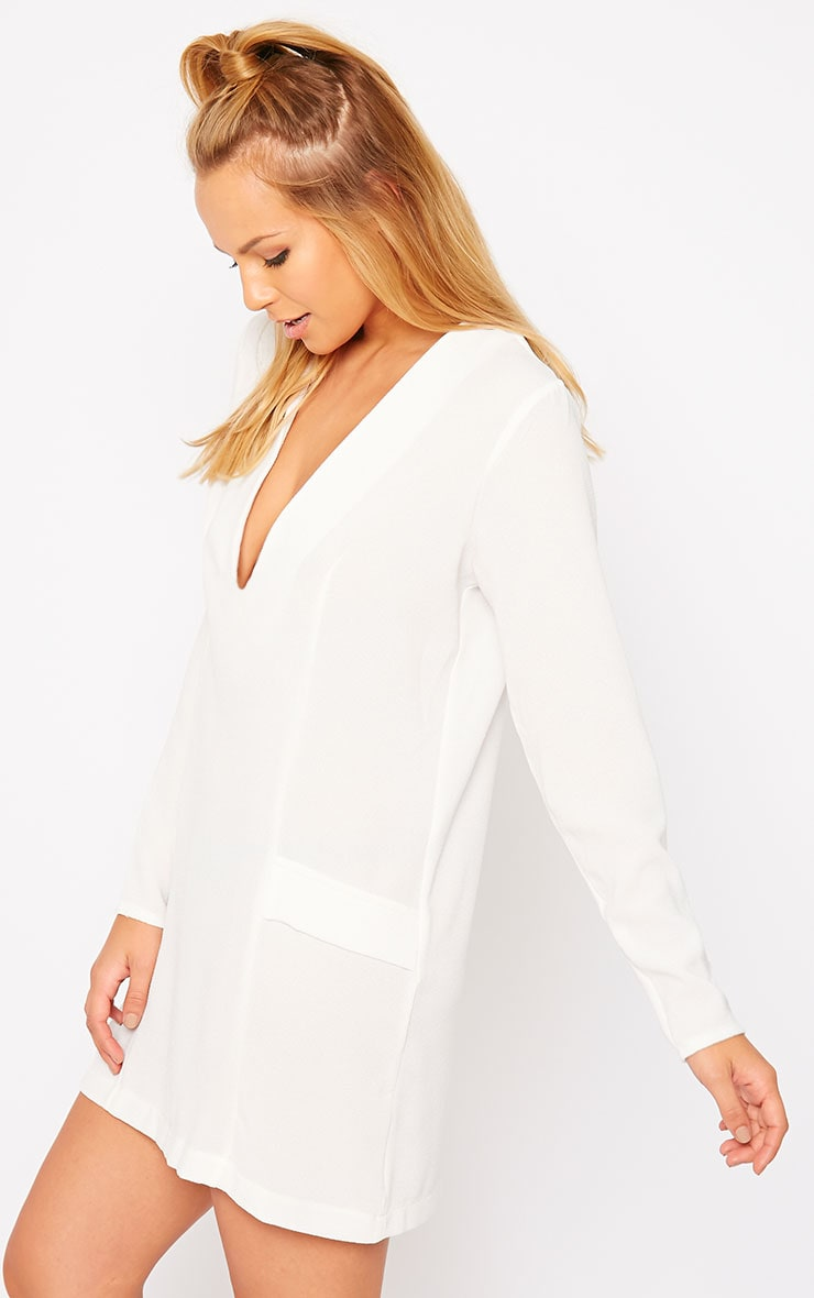 Jemima Cream Blazer Dress 4