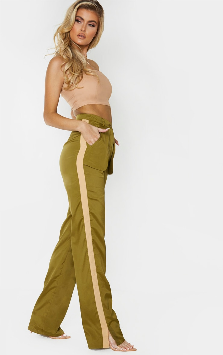 Tall Khaki Inside Out Pocket Pants 1