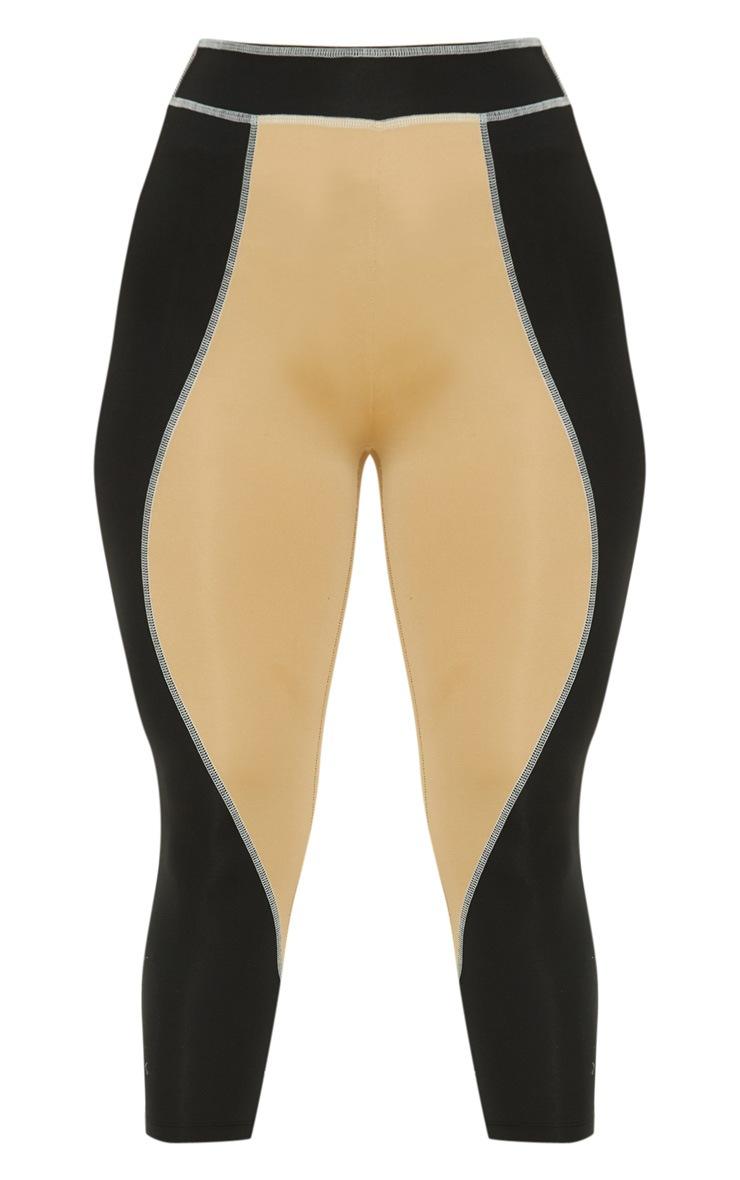 Contrast Stitch Cropped Gym Legging 3
