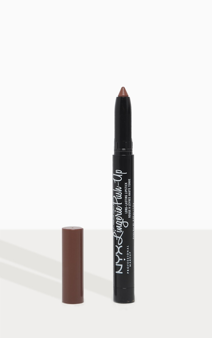 NYX PMU Lip Lingerie Matte Plumping Nude Lipstick Teddy 1