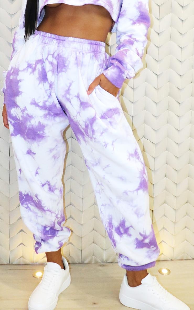 Shape - Jogging taille haute tie & dye violet 2
