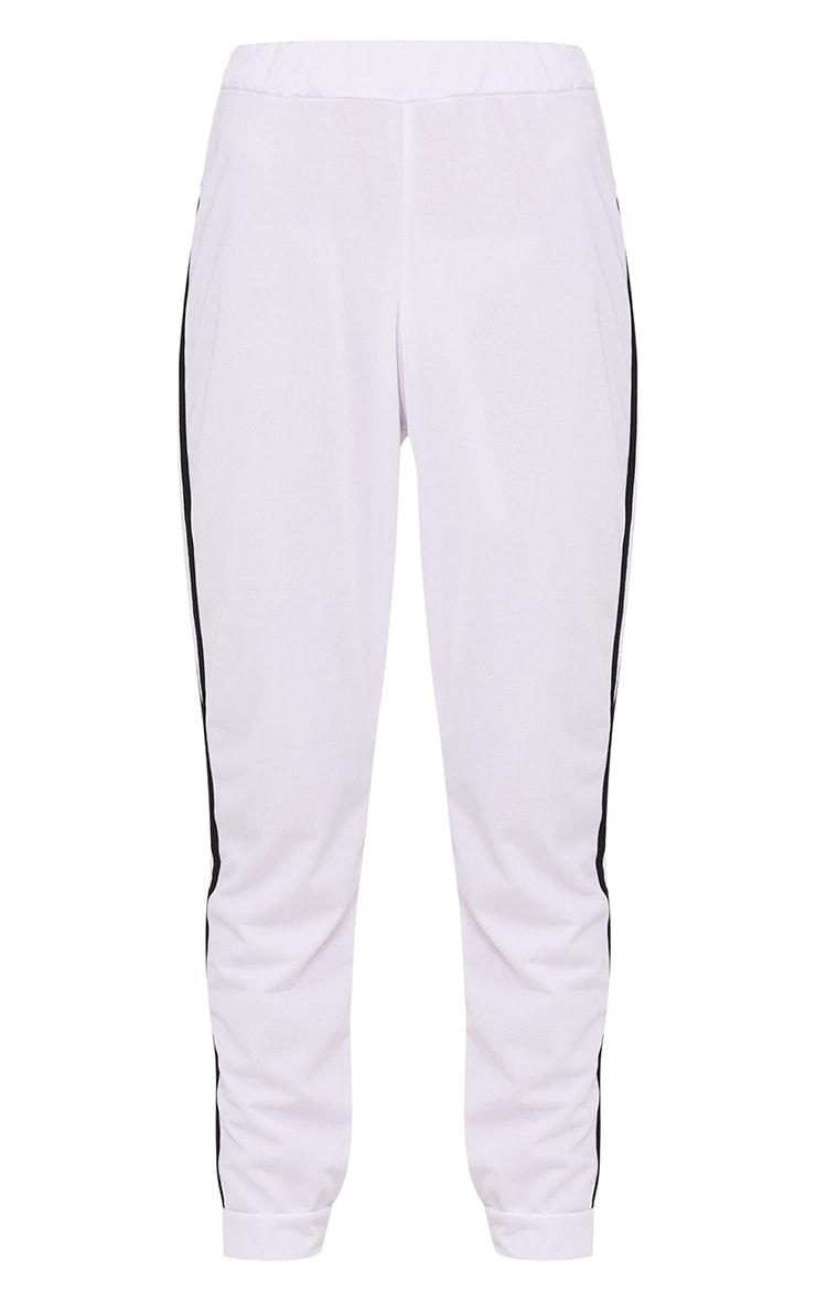 White Sport Stripe Joggers 3