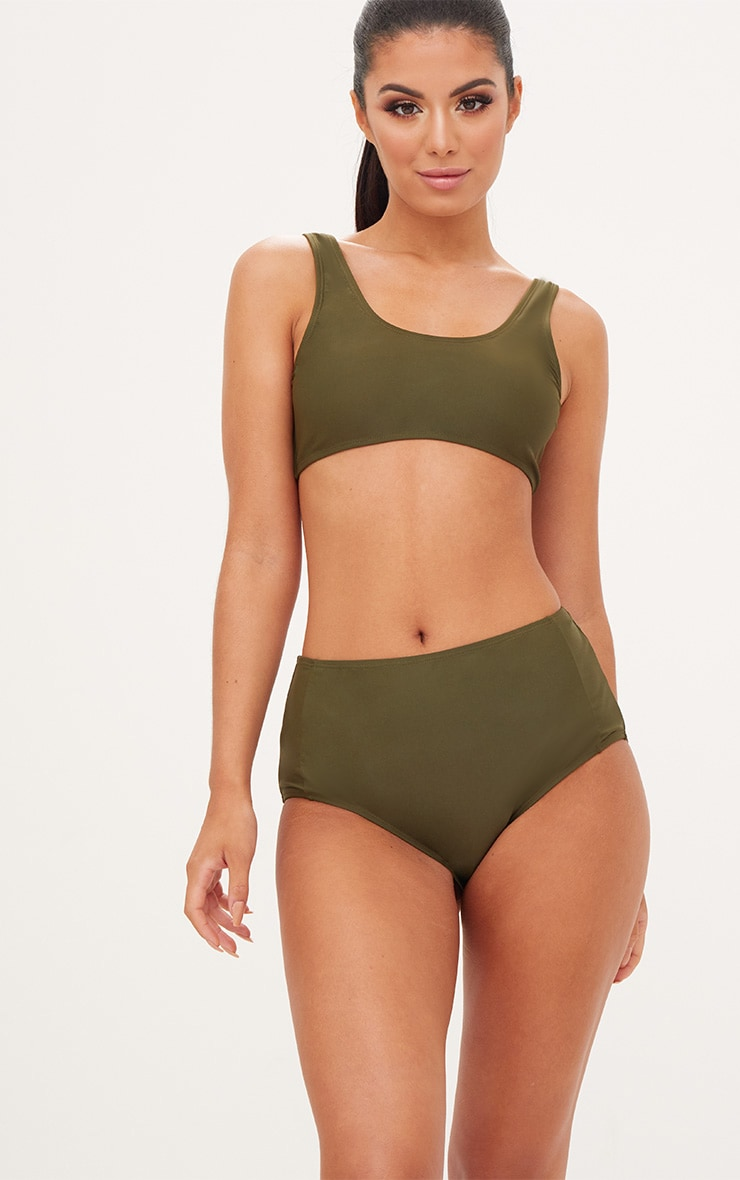 Mix & Match Khaki High Waisted Bottoms 1