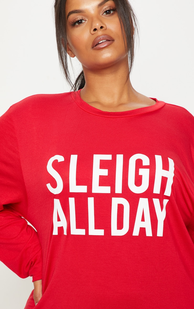 Plus Red 'Sleigh All Day' Nightie 5