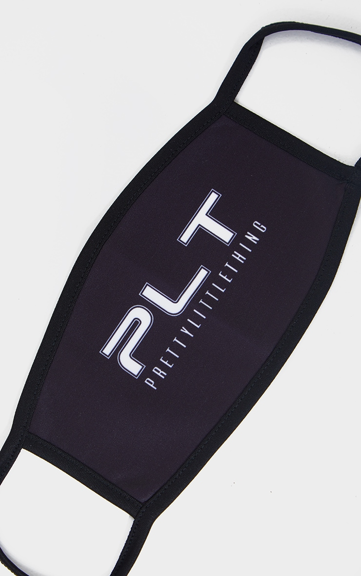 PLT Black Slogan Fashion Mask 2