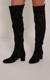 Stack Knee Boots Over Evy Black Heel The A5RLj4