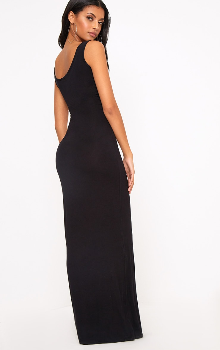 Black Racer Maxi Dress 2