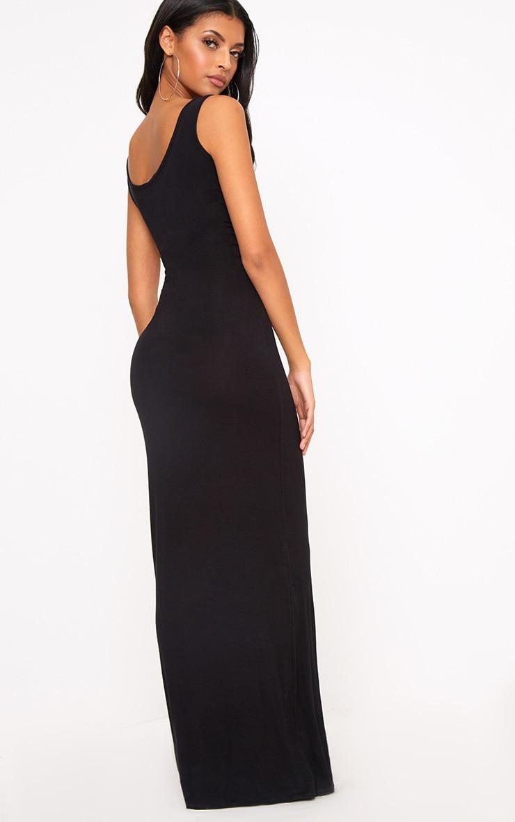 Basic Black Maxi Dress 2