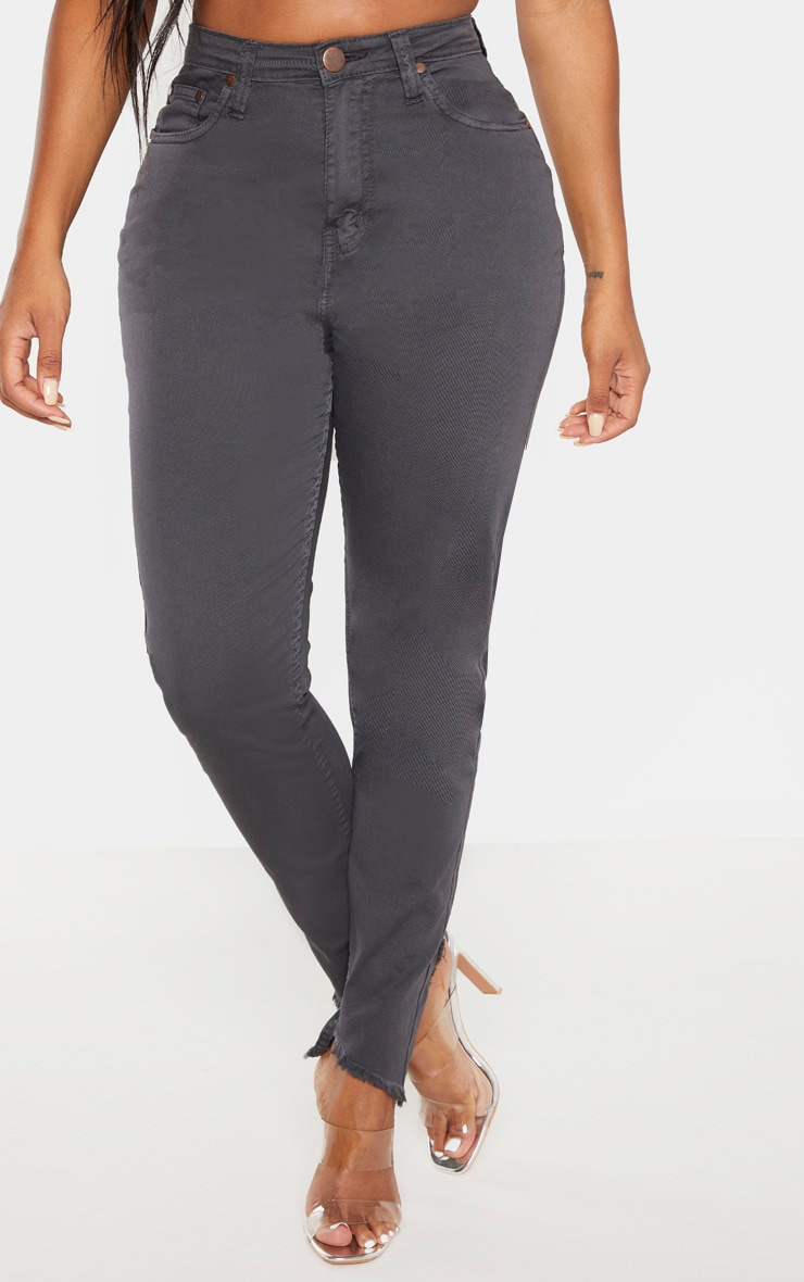 Shape - Jean skinny gris anthracite taille haute 2