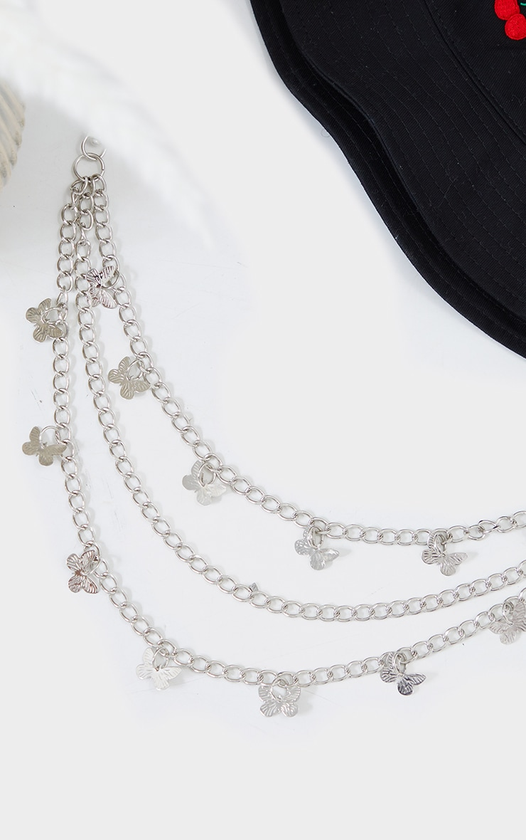 Silver Dainty Butterfly Layering Jean Chain 1