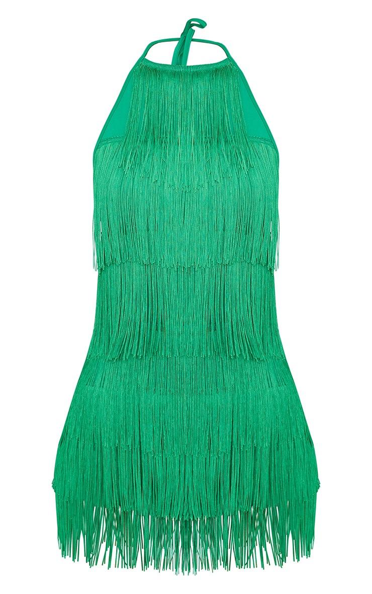 Bright Green Tassel Romper 3