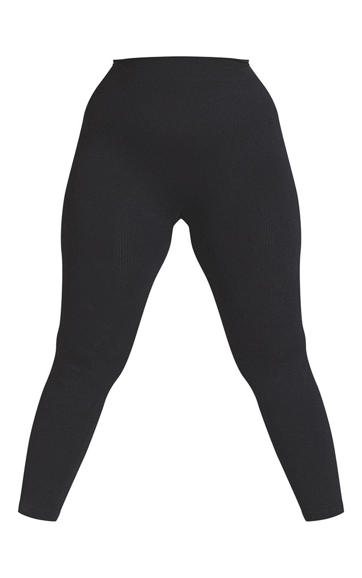 Plus Black Contour Leggings 5