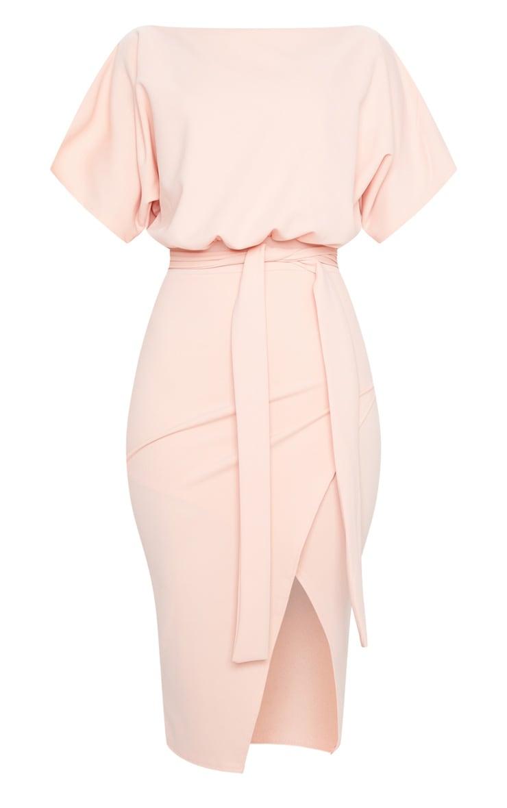 Nude Wrap Front Kimono Sleeve Midi Dress 5