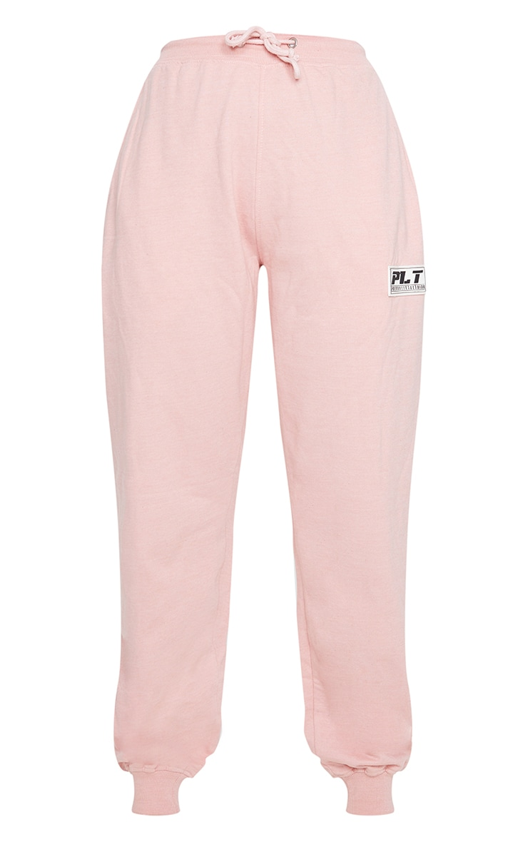 PRETTYLITTLETHING Pink Badge Casual Joggers 5