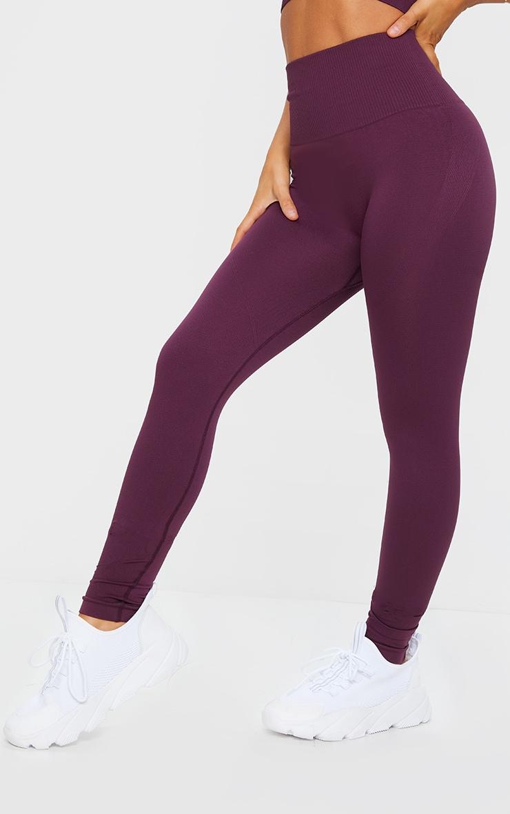 Plum High Waist Seamless Gym Leggings 2