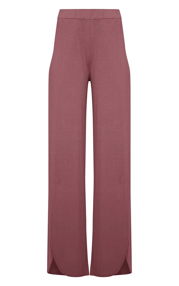 Mona Mauve Split Jersey Trousers 3