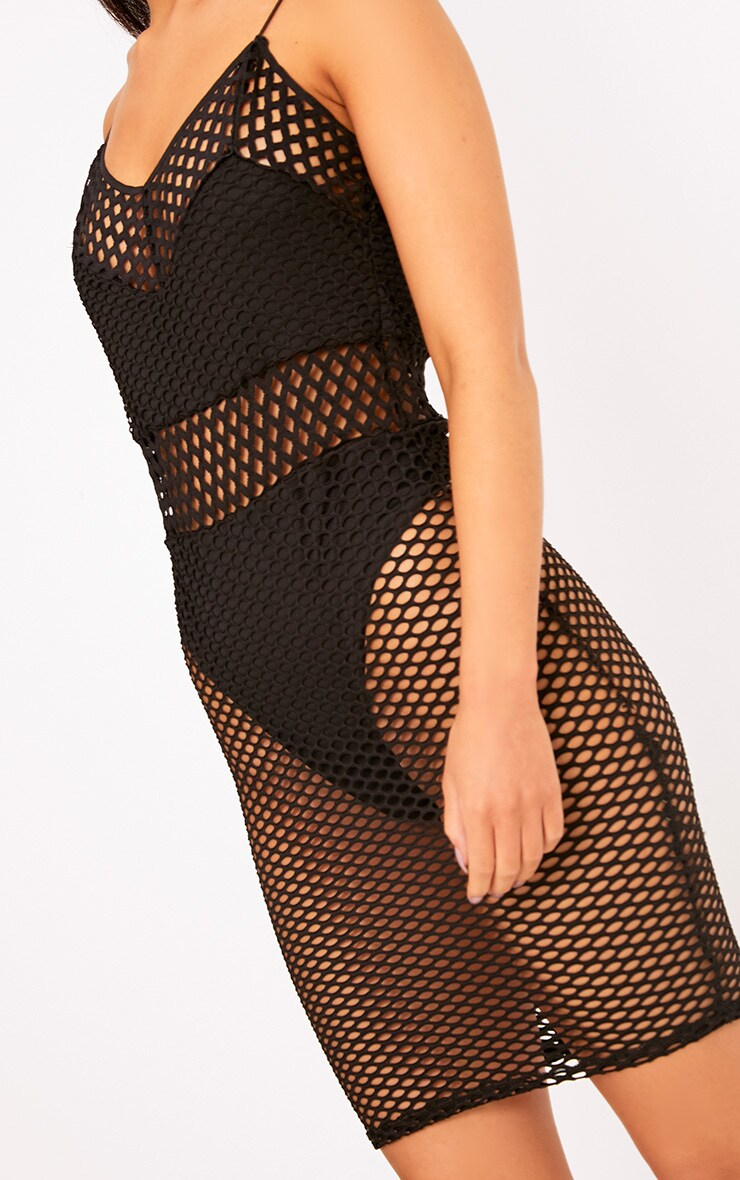 Black Fishnet Bodycon Dress 5