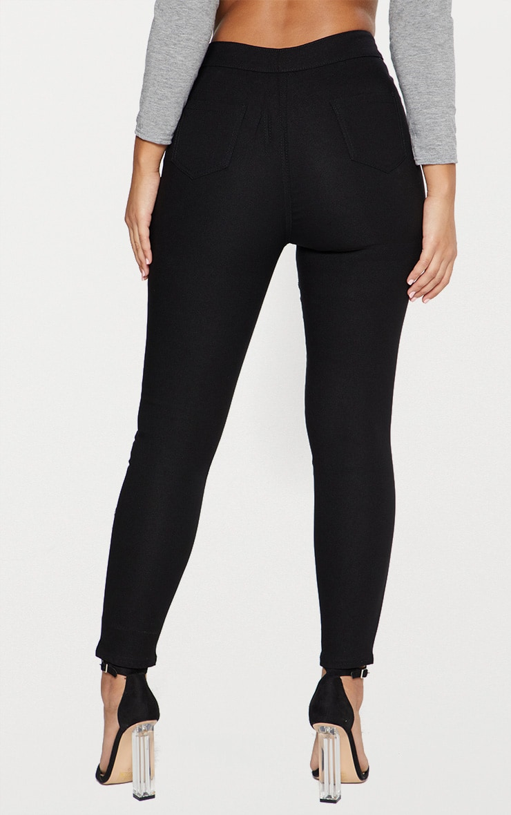 Black High Waisted Skinny Disco Jean  4