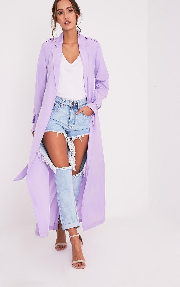 Hebe manteau ample imper léger lilas 1