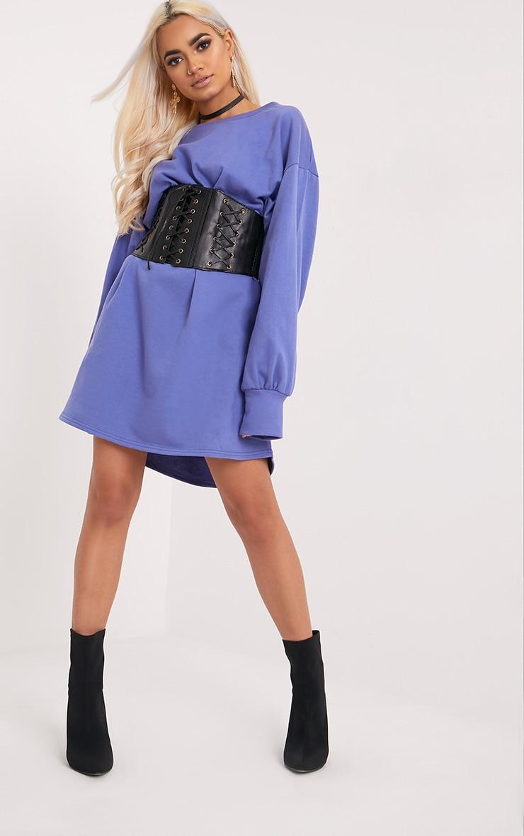 Sianna Blue Oversized Sweater Dress 4