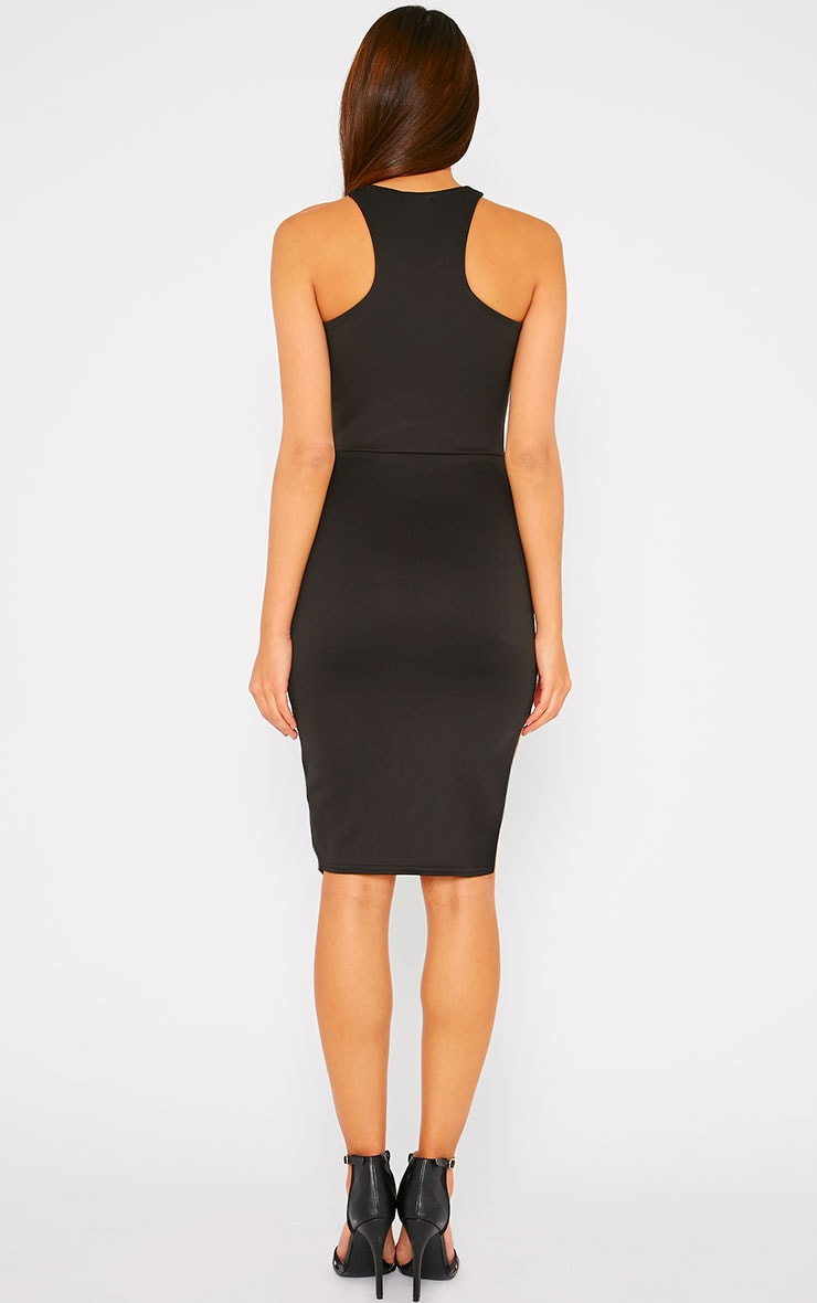 Sydney Black Cut Out Curve Split Dress 2