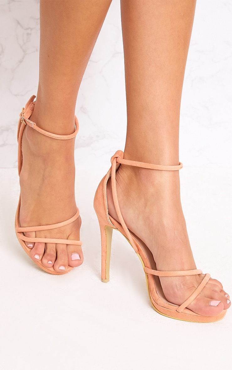 Peach Strappy Heels 1