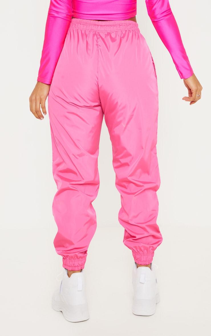 Hot Pink Drawstring Waist Shell Pants 4