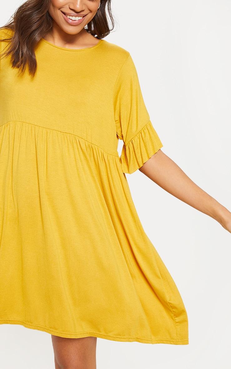 Mustard Short Sleeve Smock Dress 5