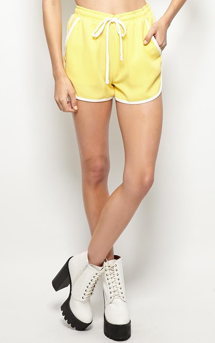 Libby Yellow Running Shorts 4